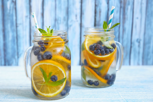 Blueberry water